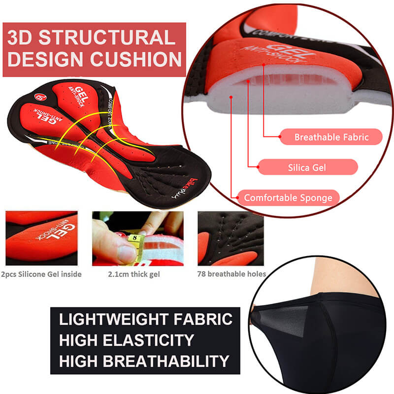 Men's 3d Pad Cycling Underwear Shorts
