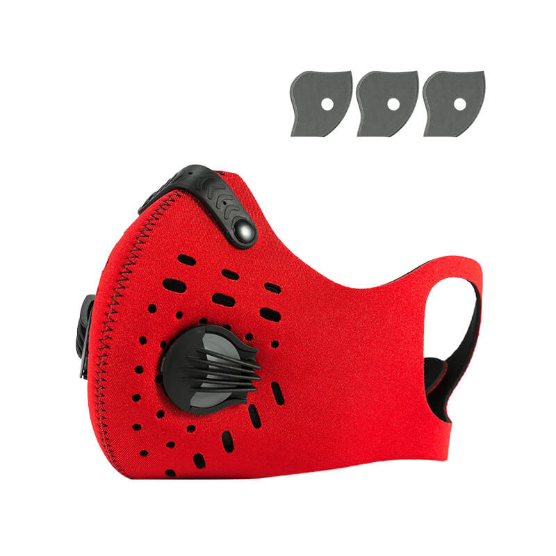 Cycling Mask Hanging Ear Mask Anti-dust Anti-pollution Mask with Air Filters 1+3 Pack