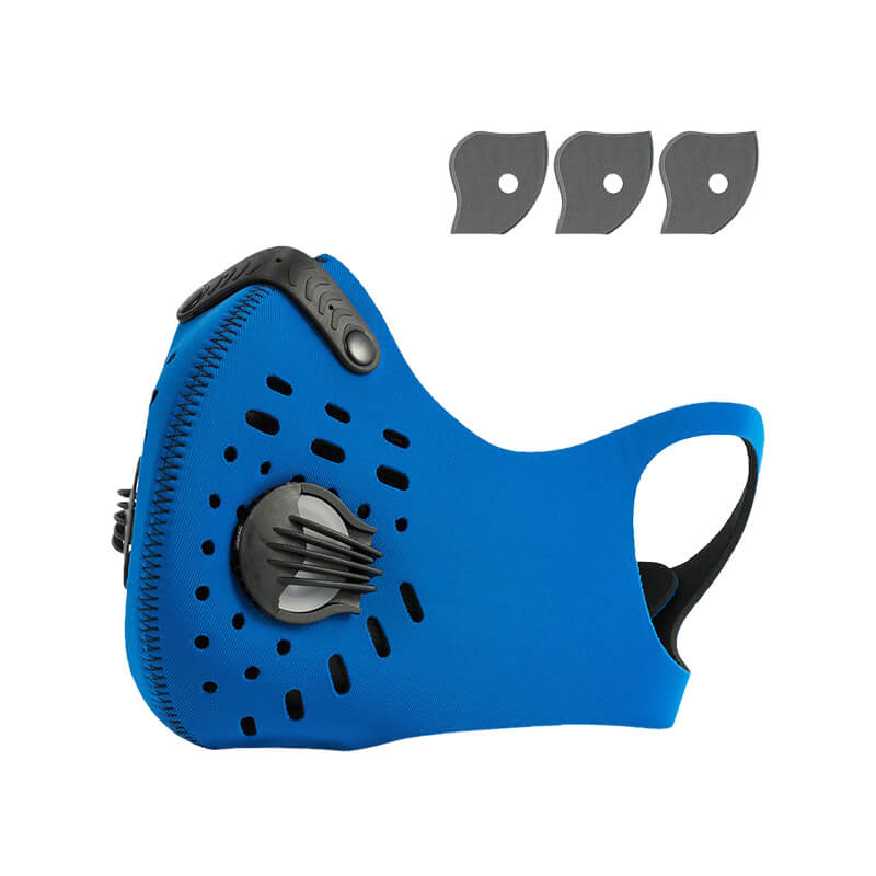 Cycling Mask Hanging Ear Mask Anti-dust Anti-pollution Mask with Air Filters 1+3 Pack Against Cold Weather