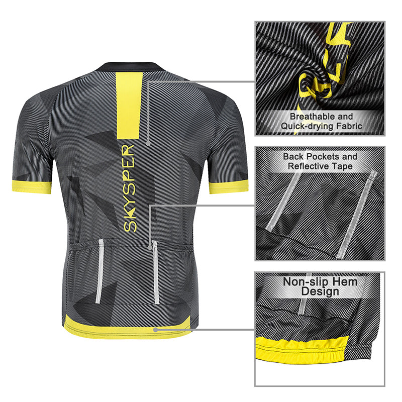 2019 Men's Short Sleeve Cycling Kit - YellowReflective