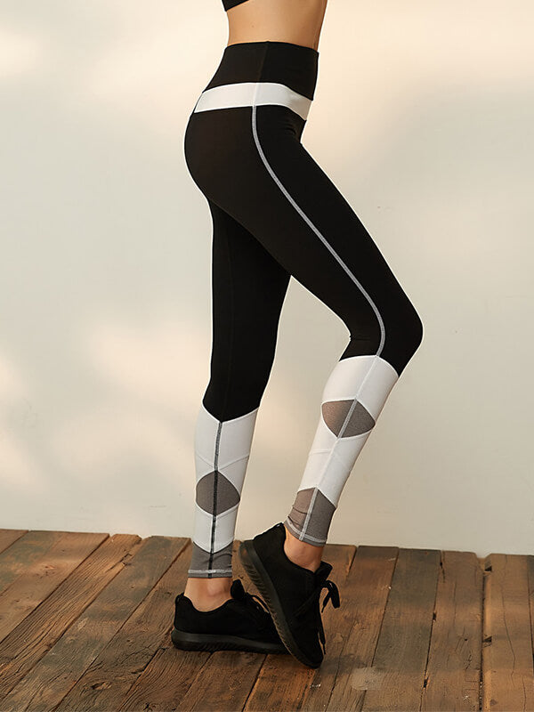 High Waisted Track Yoga Leggings
