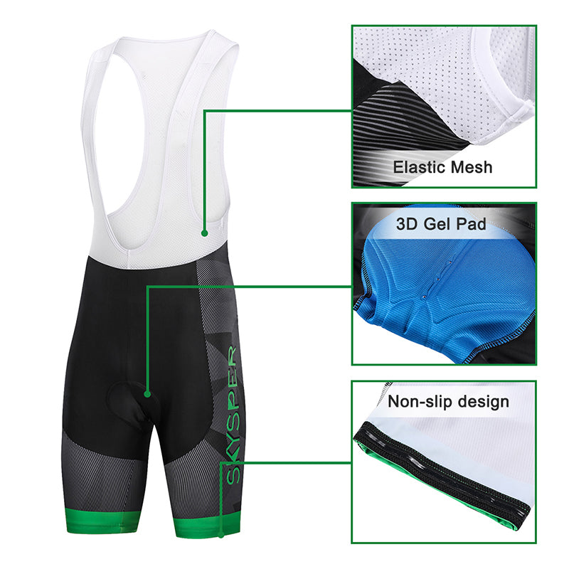 2019 Men's Short Sleeve Cycling Kit - GreenWhite