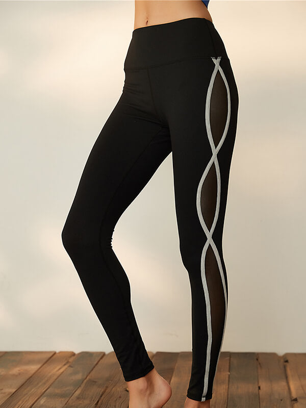 Mesh High Rise Yoga Leggings