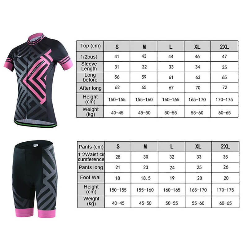 Women's Short Sleeve Cycling Set - Maze