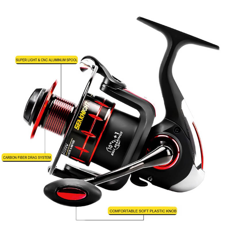 10+1Ball Bearings Spinning Reels Antireverse Super Left/Right Interchangeable Saltwater Fishing Reel + Spare Spool