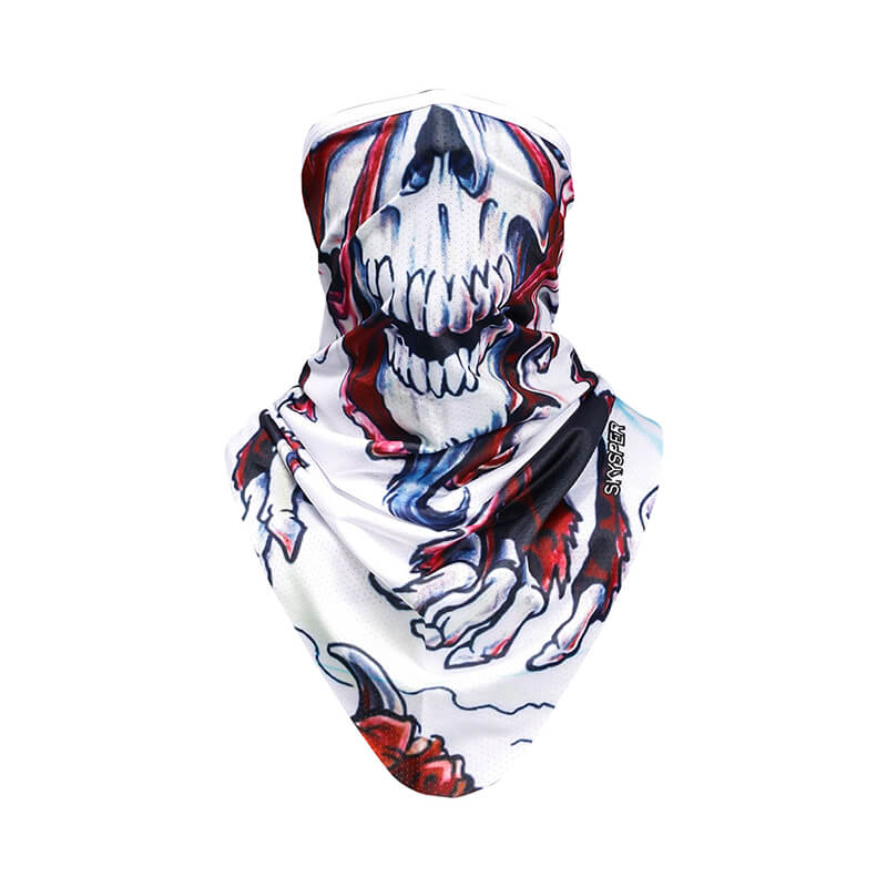 Skull Bandana | Head Bandana | Motorcycle Face Mask Quickly Dry Sun UV Protection Helmet Liner