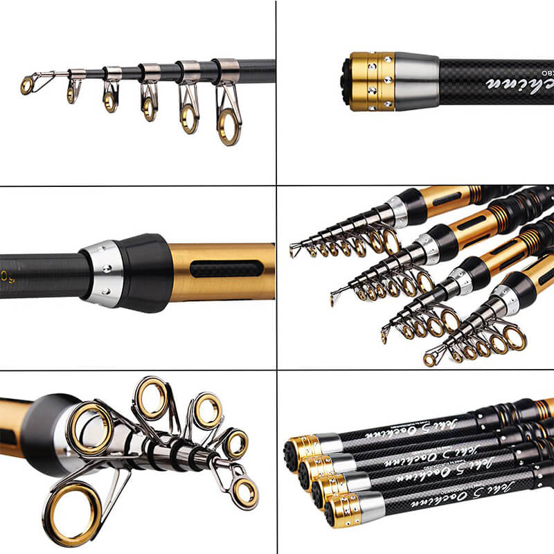 Fishing Rod | Telescopic Saltwater Superhard Throwing Rod | Mini Portable Spinning Fishing Pole