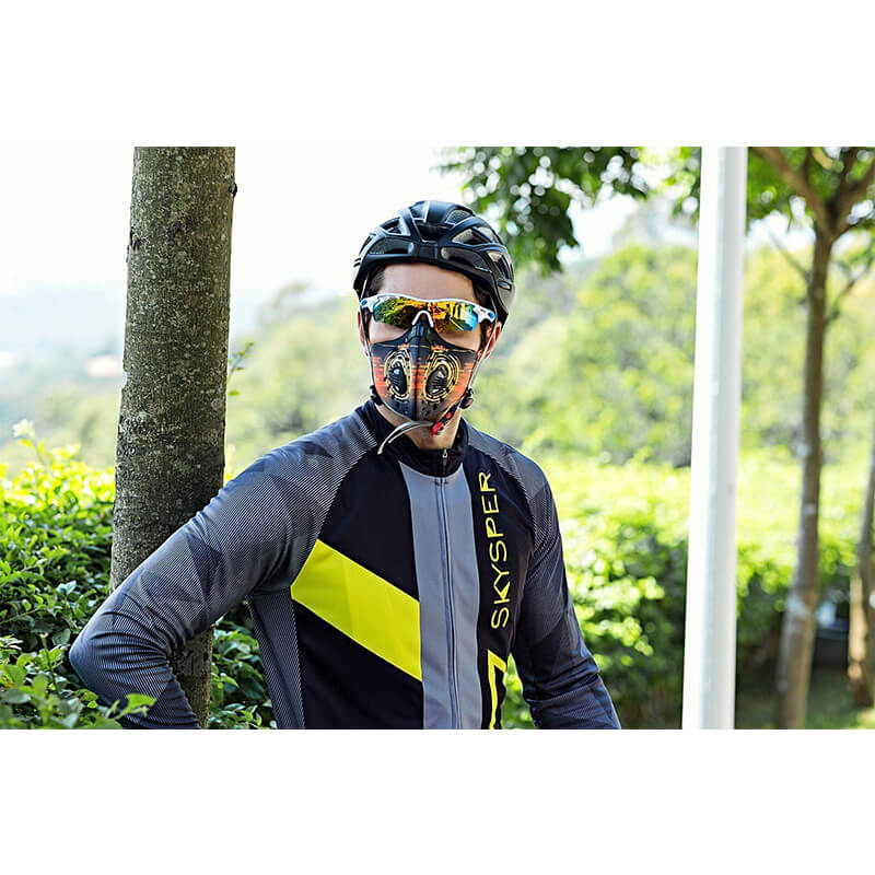 Bike Mask | Cycling Pollution Mask | PM 2.5 Mask with 3 PCS Extra Filters Against Cold Weather