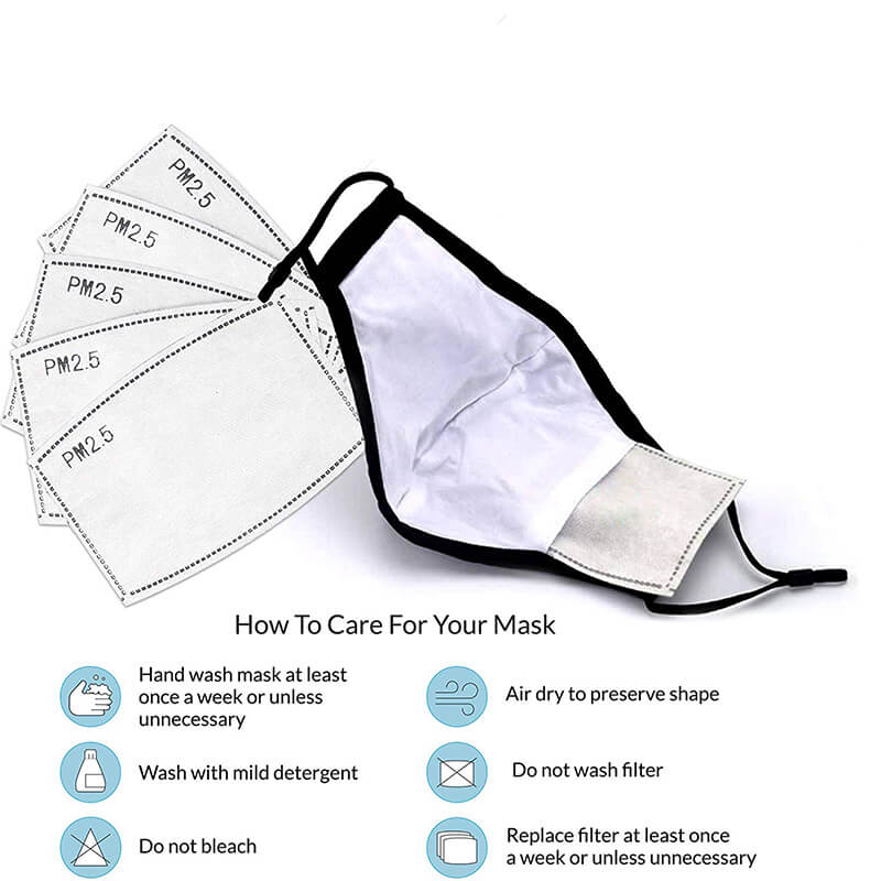 Pollution Mask | Dust Mask | Allergy Mask with 5PCS Extra Filters