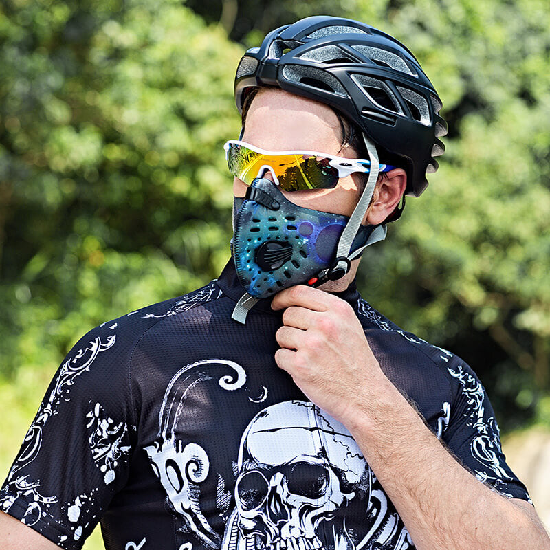 Breathing Mask for Running | N95 Face Mask | Cycling Mask with Replaceable Filter 1+3 Pack