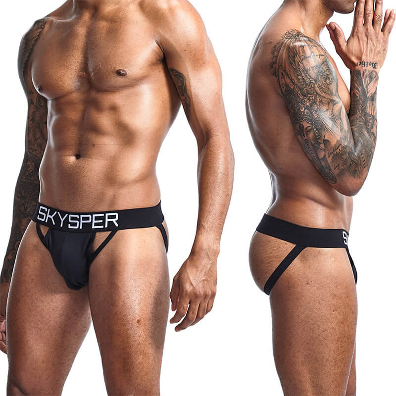 Men's Cotton JockStrap Sexy Athletic Thongs Underwear