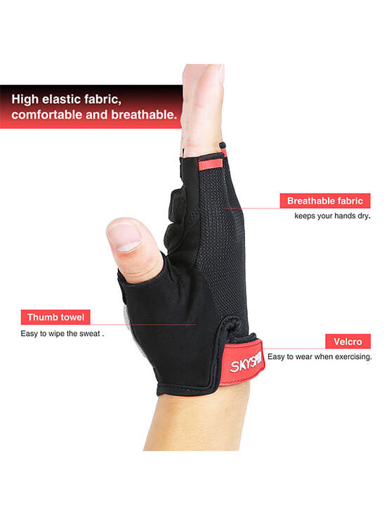 Gel Half-Finger Gloves - SKYSPER