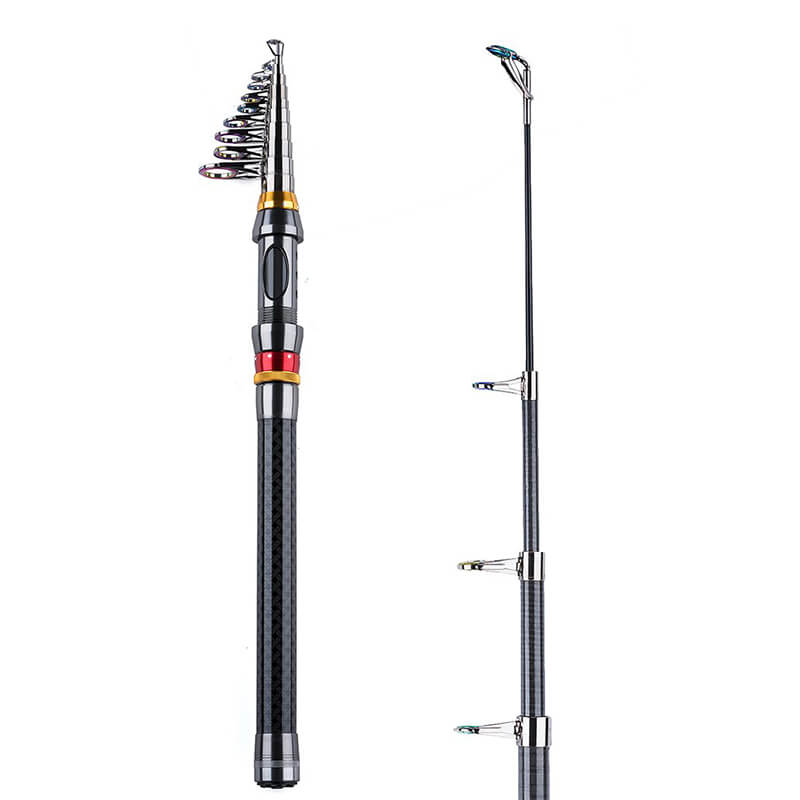 Telescopic Fishing Rod | Portable Carbon Fiber Fishing Pole | Saltwater  Freshwater Retractable Spinning Fishing Rod