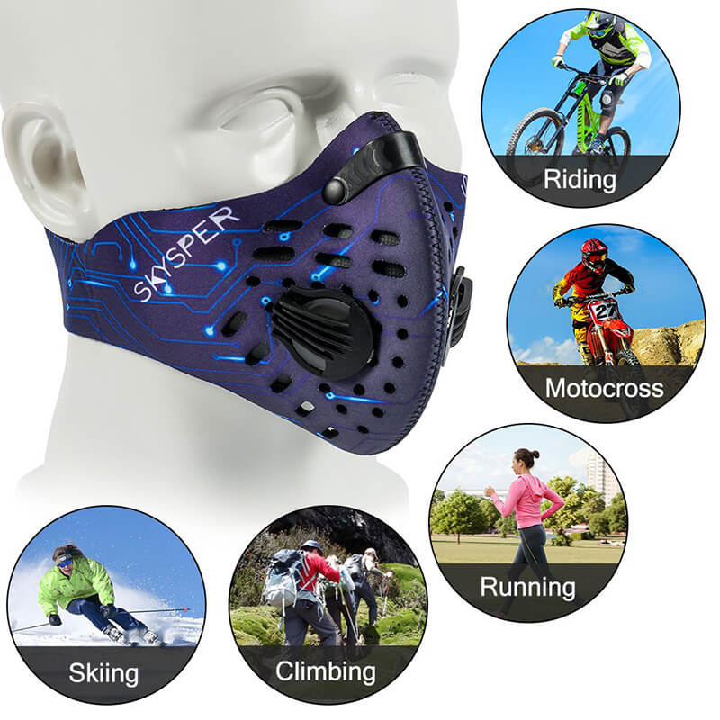 Pollution Face Mask | Dust Mask | Cycling Mask with Replaceable Filter