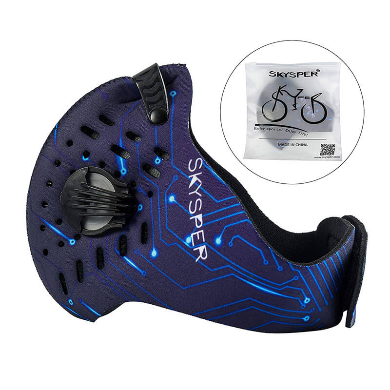 Pollution Face Mask | N95 Mask | Cycling Mask with Replaceable Filter 1+3 Pack