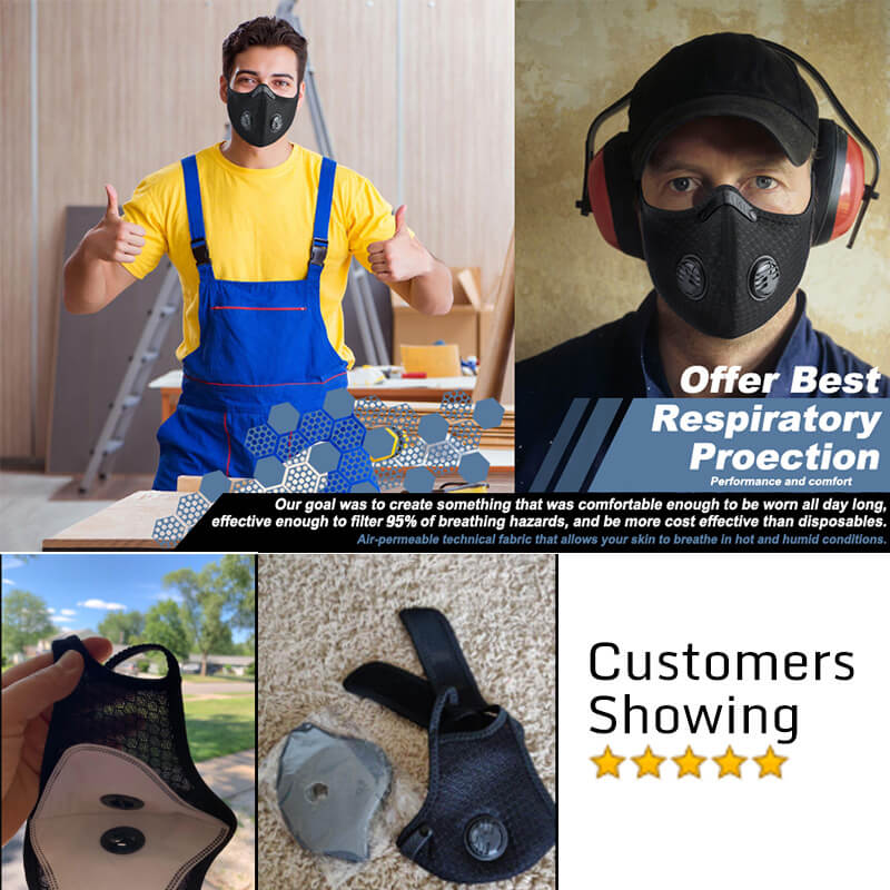 N95 Super Breathable Mask | Dust Mask Activated Carbon Pollution Mask [Summer]