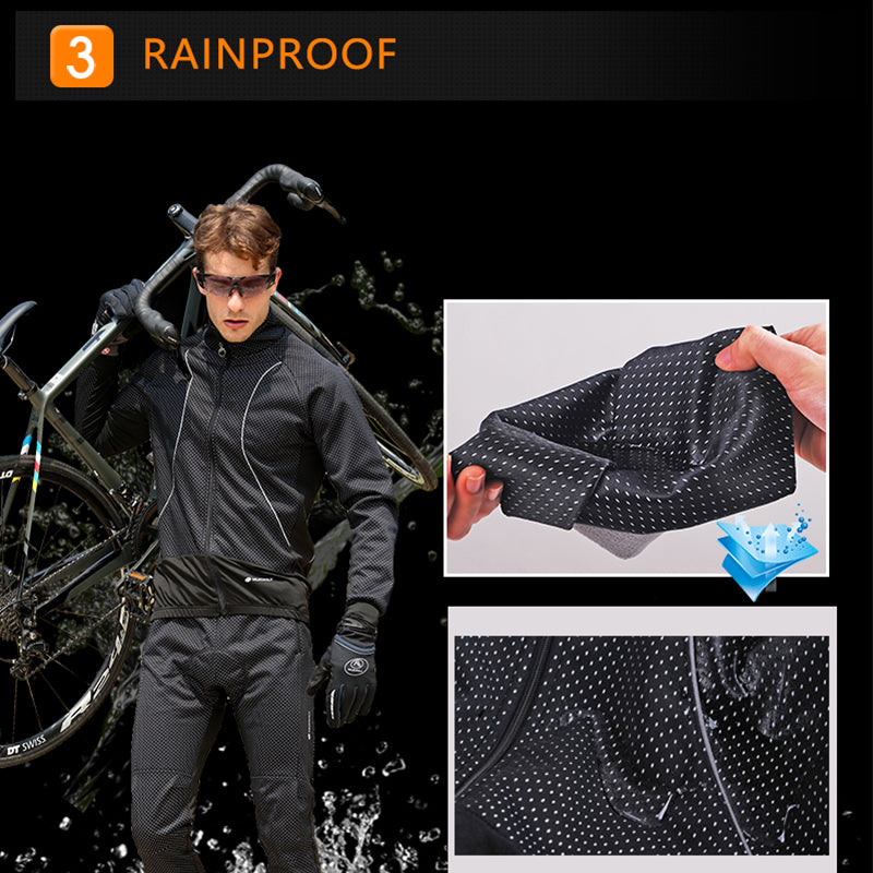 Men's Long Sleeve Windproof Jacket Kit - White Polka dot - SKYSPER