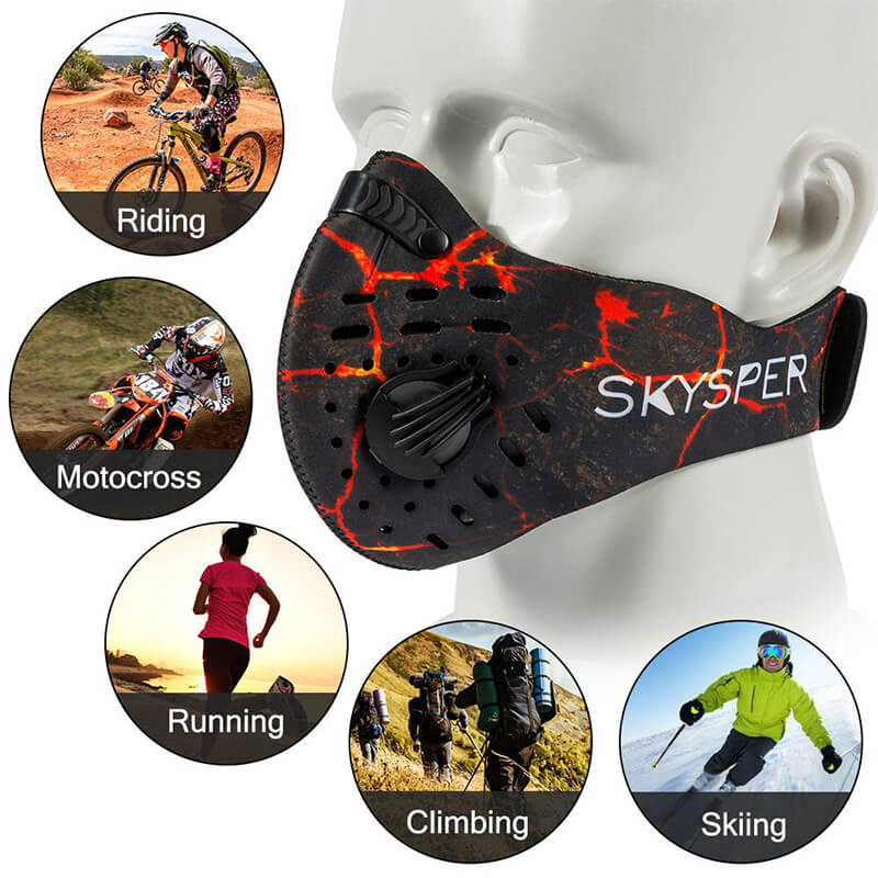 Cycling Mask | N95 Mask With Replaceable Filter 1+3 Packs Against Cold Weather
