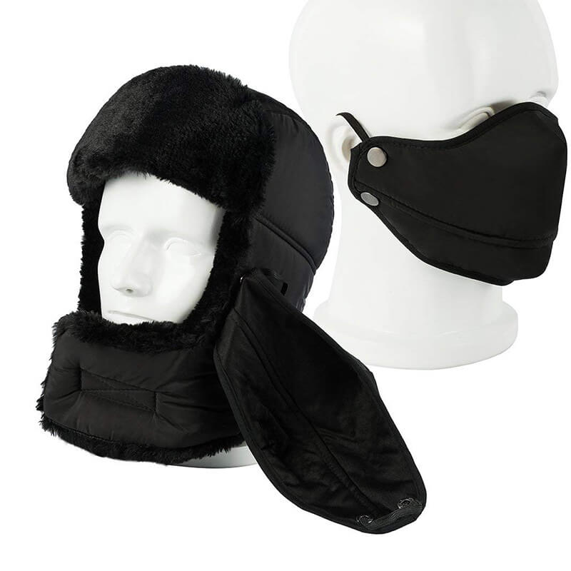 Beanie Hat | Bomber Hat | Winter Ear Flap Hat Keep Warm for Skating Skiing