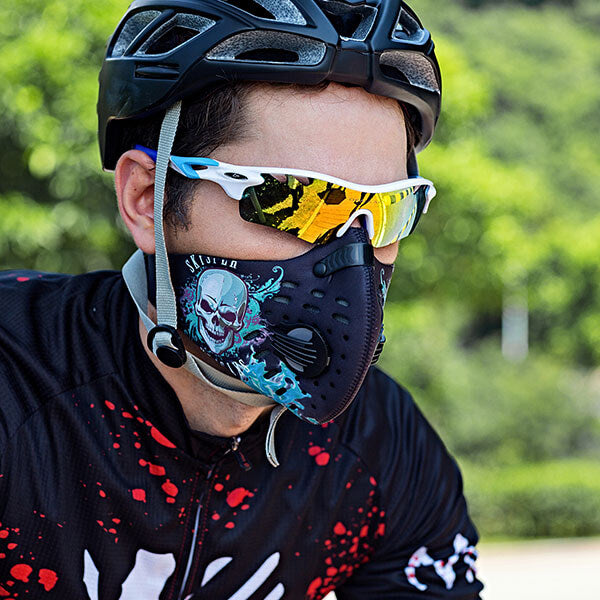 Cycling Face Mask(N95) - Skull - SKYSPER