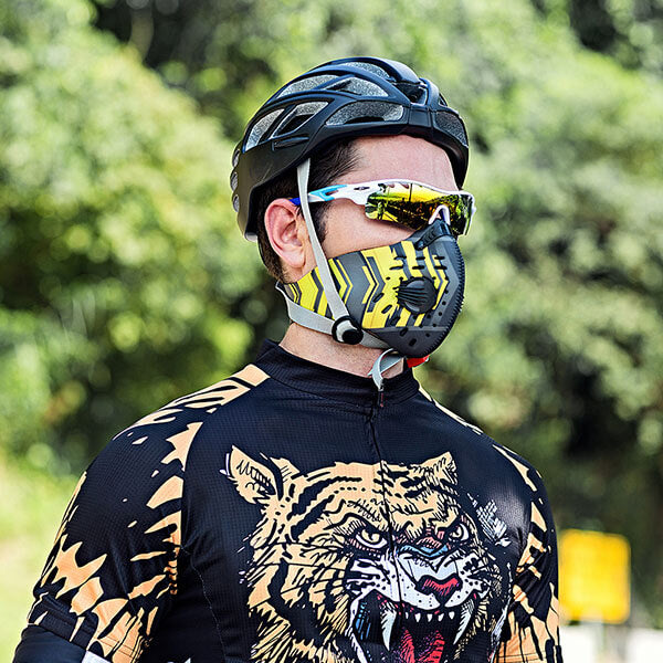 Air Filter Cycling Mask(N95) - Stripe - SKYSPER