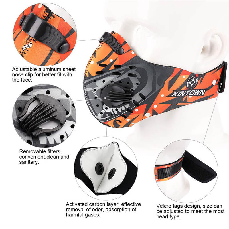Dust Mask | Neoprene Face Mask | Half Face Mask 1+3 Pack