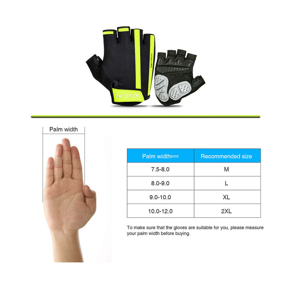 Gel Half-Finger Gloves - Yellow - SKYSPER