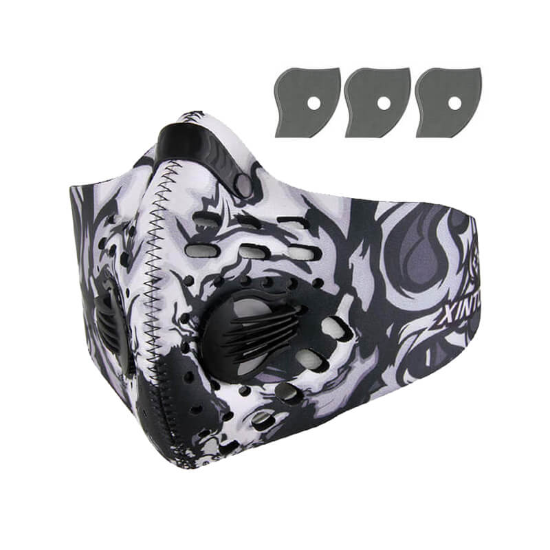 Dust Mask | Neoprene Face Mask | Half Face Mask 1+3 Pack Against Cold Weather