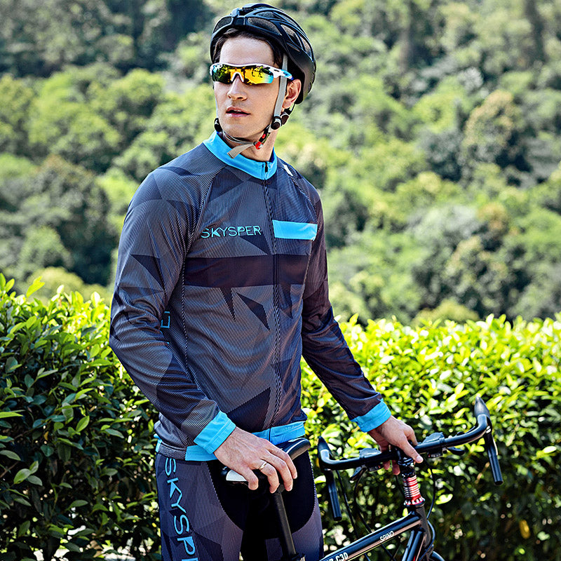 Men's Long Sleeve Kit - Triangle Print - SKYSPER