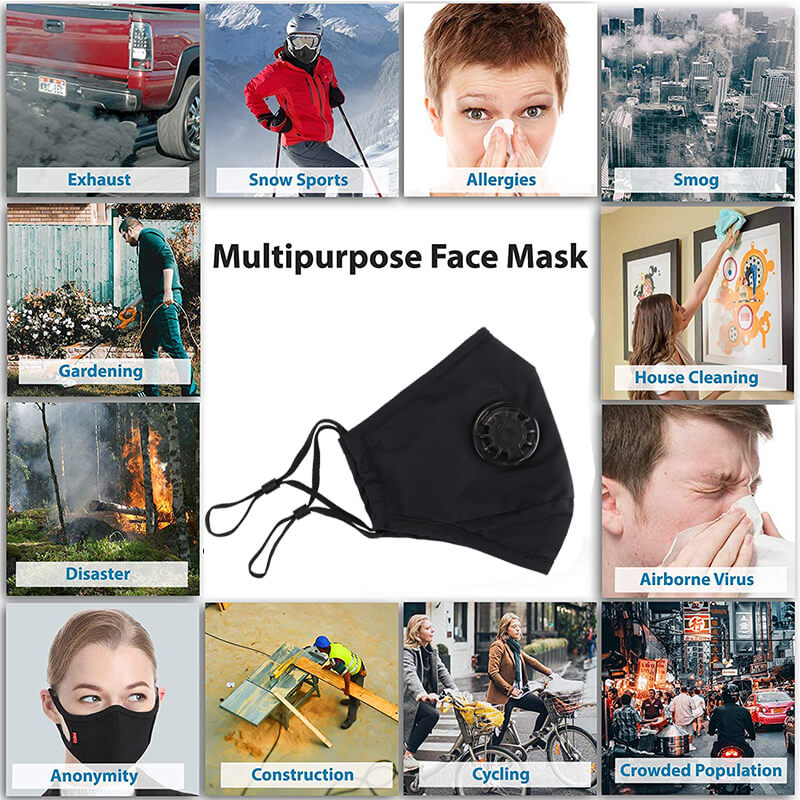 N99 Mask Anti Pollution Mask with Valve Replacement Filter
