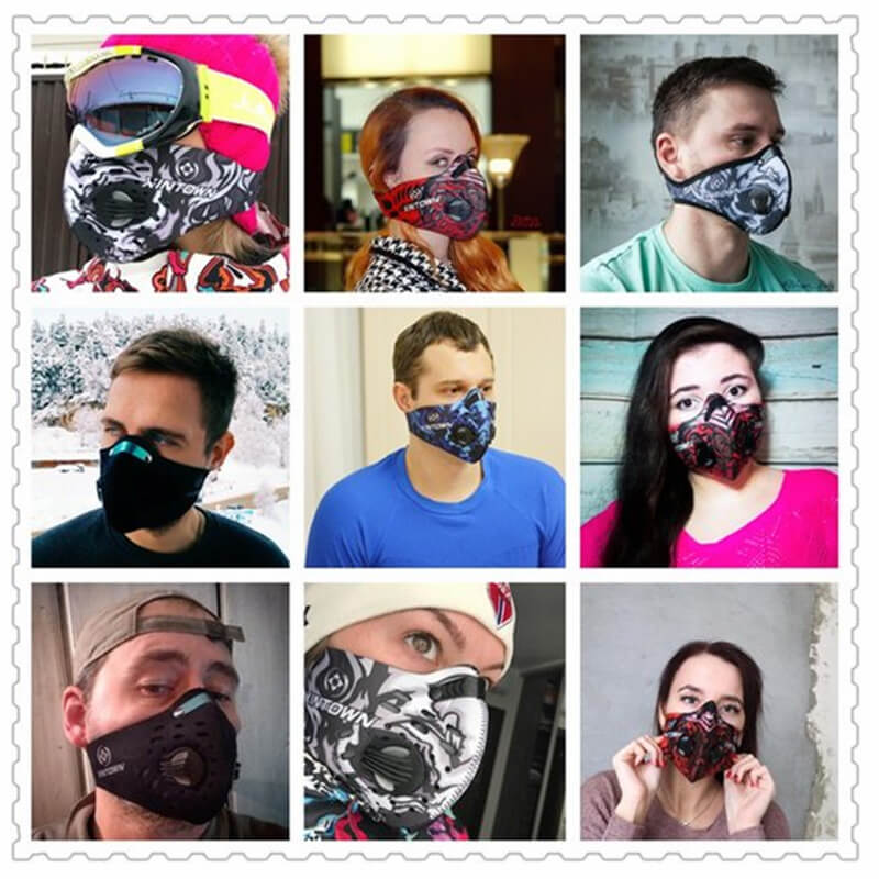 Dust Mask | Neoprene Face Mask | Half Face Mask Against Cold Weather