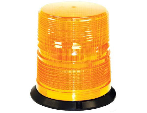 6.5 Inch by 6.5 Inch Amber LED Beacon Light With Tall Lens | Buyers Products | Simpson Tool Box | Truck Accessories