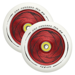 Fuzion Marker 110mm Hollowcore Red Core w/ White PU (Pair)