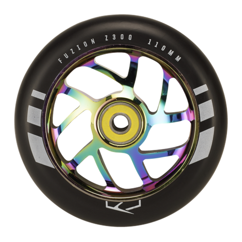 Fuzion Flight Wheel 110mm Black with Neochrome Core (Pair)