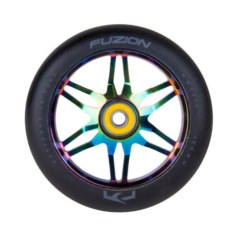 Fuzion Ace Pro Scooter Wheels 120mm (Black & Oil Slick)(Pair)