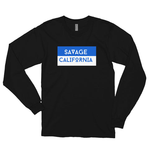 Savage California Blue and White Long Sleeve T-shirt