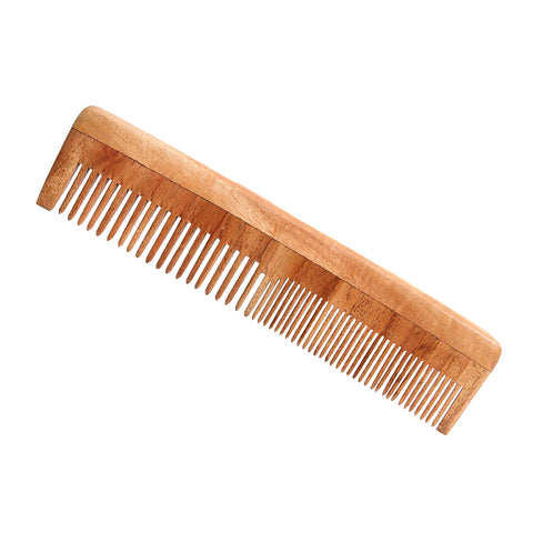 Neem Wood Comb(Fine and wide tooth)