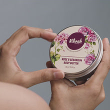 Load and play video in Gallery viewer, Rose and Geranium Body Butter