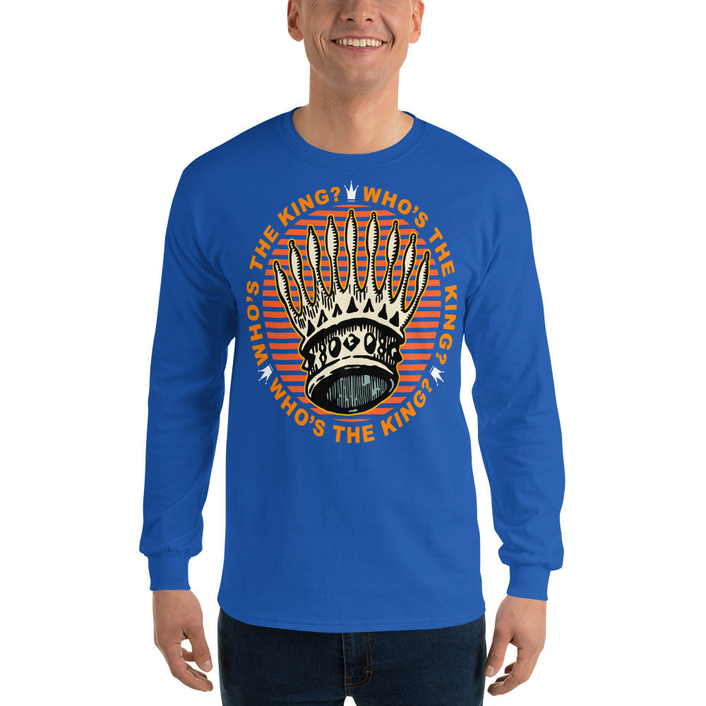 Men Who's The King Long Sleeve T Shirt