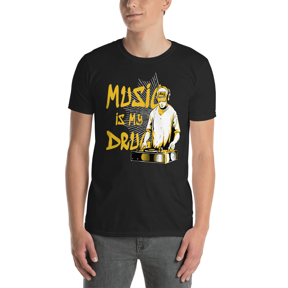 Men Music Is My Drug  T Shirt