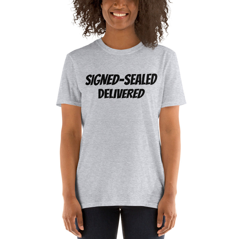 Signed Sealed Delivered Unisex T Shirt's