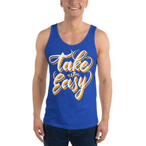 Men Take It Easy Tank Top