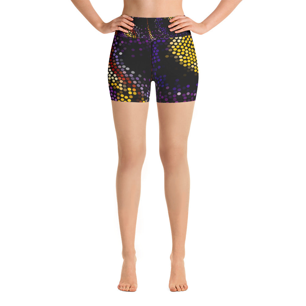 Women's Custom Color Burst Yoga Shorts