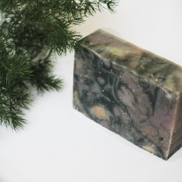 Galaxy, handmade charcoal peppermint soap