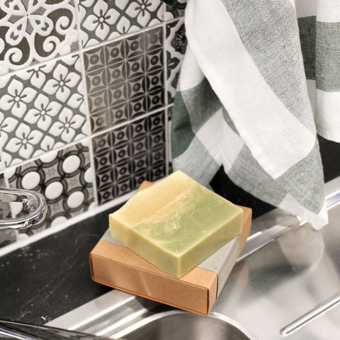 Handmade lemon myrtle soap with coconut oil