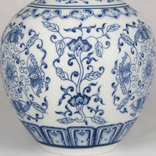 Load image into Gallery viewer, Blue and white Chinese ceramic vase detail