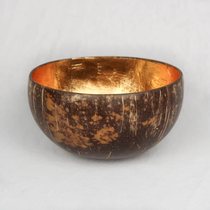 Coconut shell bowl gold