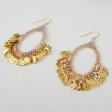 Load image into Gallery viewer, Memories of the Sun Hoop Earrings perspective