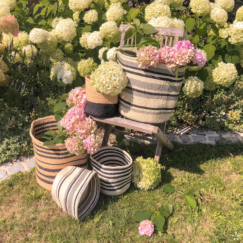 Handmade Sisal Baskets Garden Staged