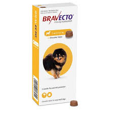 Bravecto 2-4.5kg for Extra small Dogs